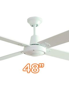 """Timber Ceiling Fans White Quiet Bedroom Typhoon Mach3 48"""" AC Hunter Pacific"""