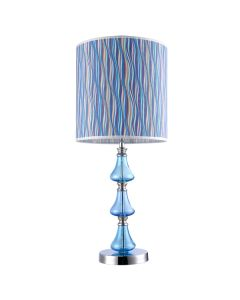 Verde Table Lamps Modern Aqua Blue Lights Shade Fabric Lighting