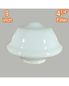 Victorian Schoolhouse 9 inch Glassware Lamps Shades Opal Gloss Period Lighting