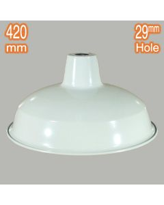 Retro Shades Lights Lamps Warehouse 420mm Metal White Lighting