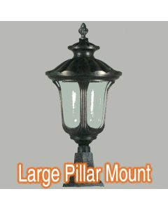 Exterior Lighting Traditional Pillar Mounted Lights Waterford Outdoor Post Top