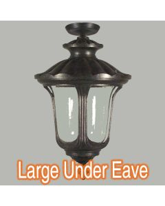 Traditional Lighting Antique Black Waterford Lights Under Eave Exterior Outdoor