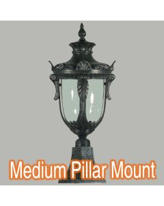 Wellington Traditional Lighting Brick Post Top Outdoor Period Exterior Lamps