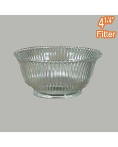 Zipper 43 Large Glassware Clear Ribbed Lamps Shades Pendants Lights